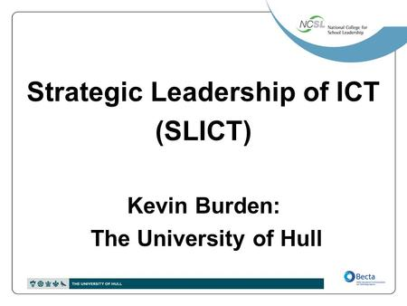 Strategic Leadership of ICT