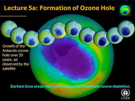 Lecture 5a: Formation of <strong>Ozone</strong> Hole