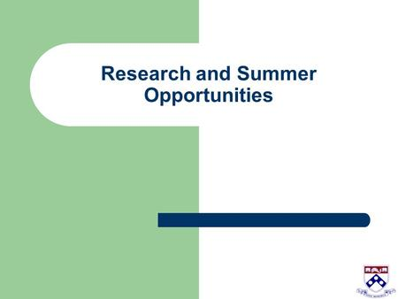 Research and Summer Opportunities. I don't think I want to do research, so what's the point of it? Here are some potential benefits: Exposure to the scientific.