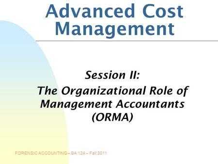 Certified Management Accountants of Canada