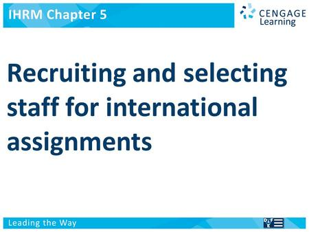International Human Resource Management Managing people in a multinational context.