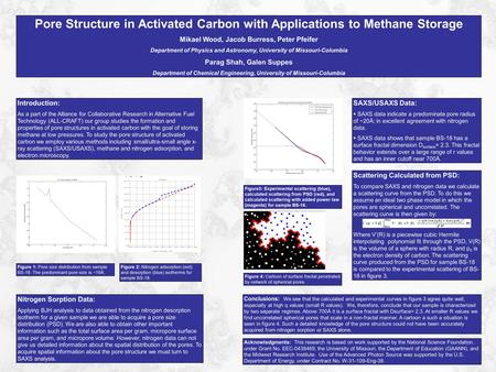 Pore Structure in Activated Carbon with Applications to Methane Storage Mikael Wood, Jacob Burress, Peter Pfeifer Department of Physics and Astronomy,
