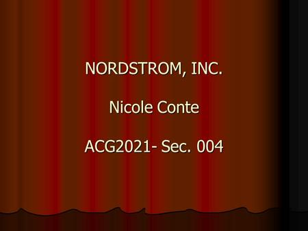 NORDSTROM, INC. Nicole Conte ACG2021- Sec. 004. Welcome to Nordstrom. Would you like to sign in?sign in your accountyour account | shopping bag: 1 item.