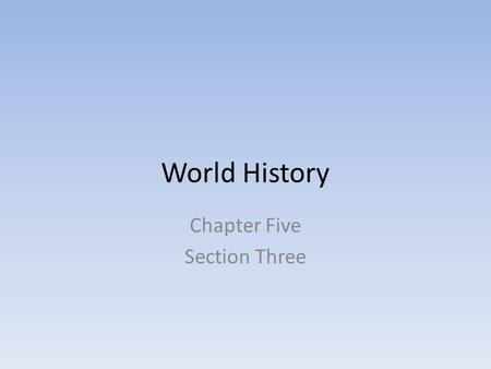World History Chapter Five Section Three. The Rise of Christianity Christianity emerged during the Pax Romana One of many, then grew rapidly Made the.