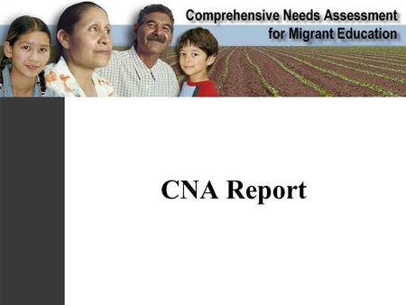 CNA Report. I. Executive Summary Keep short Simplify findings Include qualitative judgments about implications.
