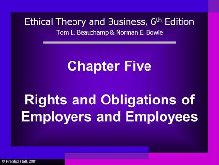 are laws necessary to govern ethical treatment of employees In order to address this question, the professional may consider legal principles (including the law governing the professional's responsibility to protect vulnerable children), ethical standards (the right of the family to make its own choices concerning health care), regional and cultural standards (the long-standing acceptability of .