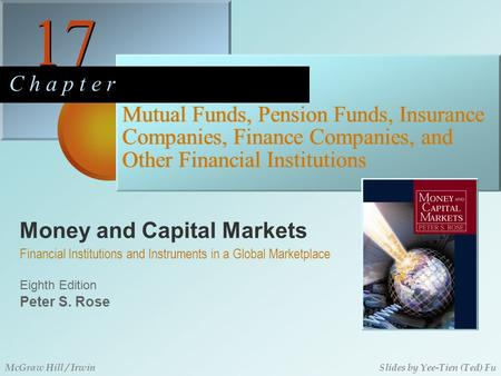 Money and Capital Markets 17 C h a p t e r Eighth Edition Financial Institutions and Instruments in a Global Marketplace Peter S. Rose McGraw Hill / IrwinSlides.