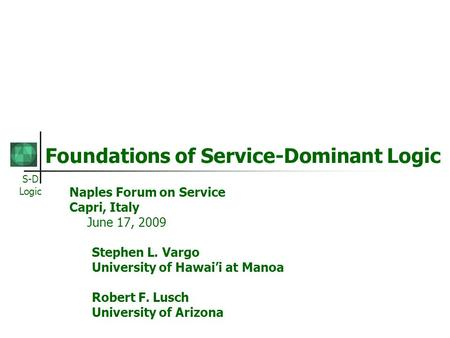 Service dominant logic essay