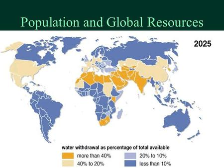 Population and Global Resources . Outline ä The need for population projections ä Population Projection Methods ä Global Statistics – ä Population ä.