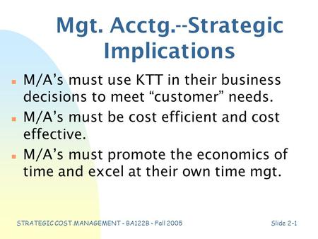strategic implications of trends on business organisations