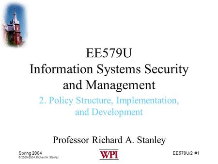 security policy development and implementation