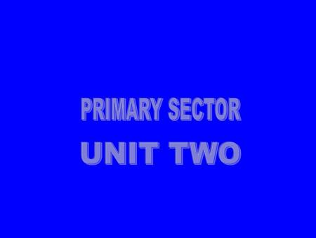 PRIMARY SECTOR UNIT TWO.