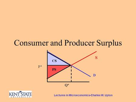 Lectures in Microeconomics-Charles W. Upton Consumer and Producer Surplus.