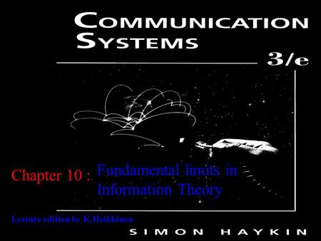 Fundamental limits in Information Theory Chapter 10 :