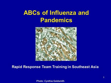 ABCs of Influenza and Pandemics