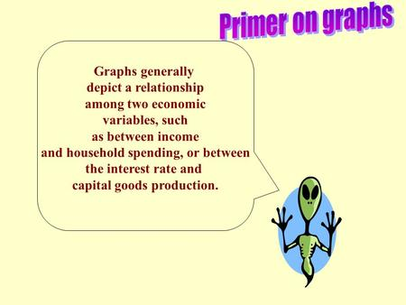how to find relationship between two variables in graph economics