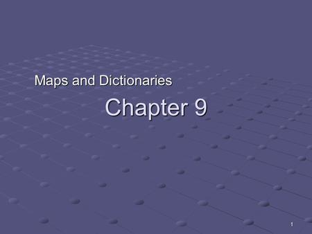 1 Chapter 9 Maps and Dictionaries. 2 A basic problem We have to store some records and perform the following: add new record add new record delete record.