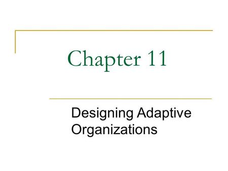 Williams Designing Adaptive Organizations