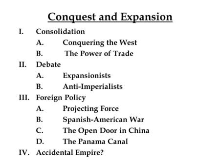 foriegn policy and expansionism essay Tags: political rhetoric, essay, isolationism, expansionism, american history, war, internationalism us foreign policy and the israeli-palestinian conflict.