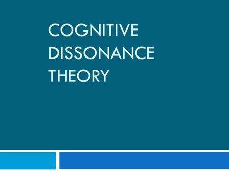COGNITIVE DISSONANCE THEORY. Associative Networks  Cognitive structures (beliefs, attitudes) exist in associative networks.  The associations are often.