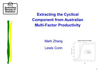 1 Extracting the Cyclical Component from Australian Multi-Factor Productivity Mark Zhang Lewis Conn.