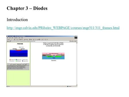 Chapter 3 – Diodes Introduction