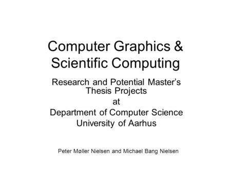 masters thesis proposal computer science
