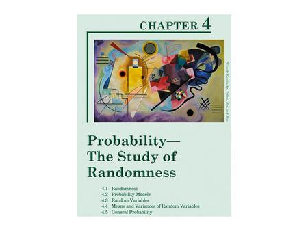 RANDOMNESS  Random is not the same as haphazard or helter-skelter or higgledy-piggledy.  Random events are unpredictable in the short-term, but lawful.