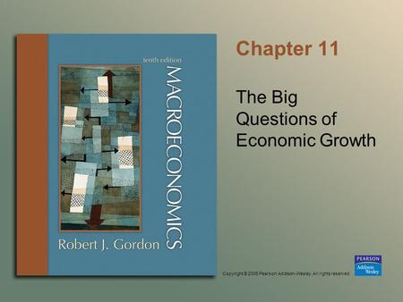 Copyright © 2006 Pearson Addison-Wesley. All rights reserved. Chapter 11 The Big Questions of Economic Growth.