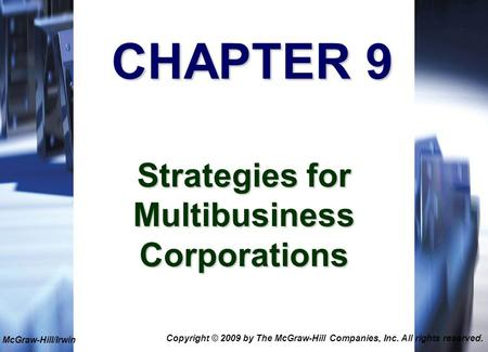 Strategies for Multibusiness Corporations