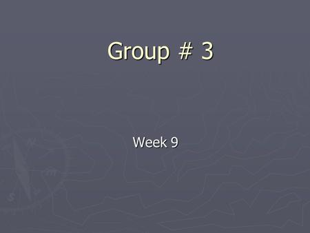 Group # 3 Week 9. Progress so far ► Writing the main program in PC ► Writing code in VB to interprets NMEA statement ► Design the interface for the program.