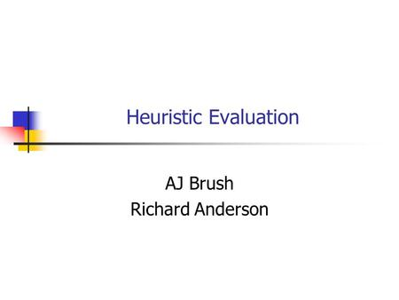 AJ Brush Richard Anderson
