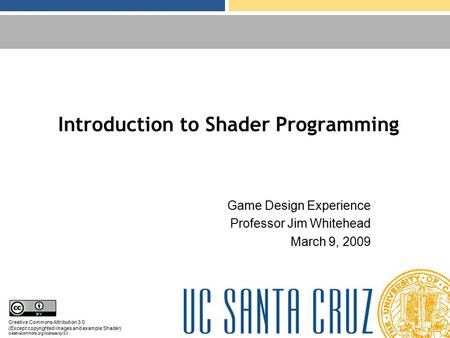 Introduction to Shader Programming