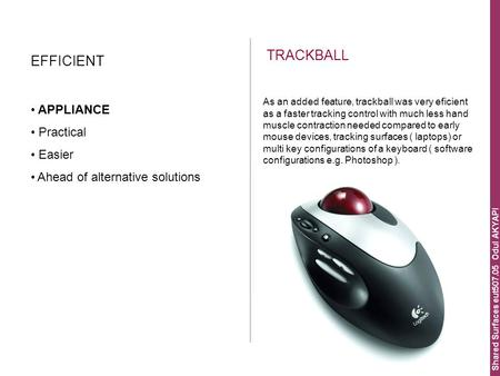 Shared Surfaces eut507.05 Odul AKYAPI TRACKBALL EFFICIENT APPLIANCE Practical Easier Ahead of alternative solutions As an added feature, trackball was.