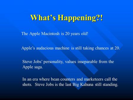 The <strong>Apple</strong> Macintosh is 20 years old!