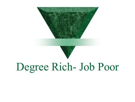 Degree Rich- Job Poor. Outlook  Campus Recruiting  New hires  Salary Increases.