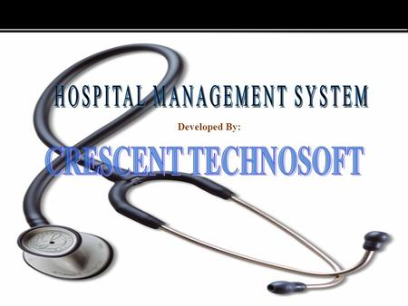 Page  1 Developed By:. Page  2 OBJECTIVE The main objectives of the Hospital Management are  Increasing the Productivity.  Cost saving / Higher revenue.