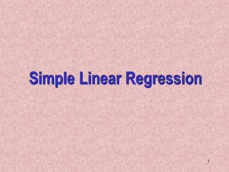 Regression Analysis Research Paper Starter