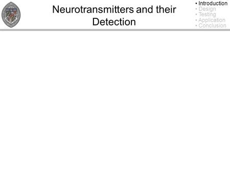 Neurotransmitters and their Detection Introduction Design Testing Application Conclusion.