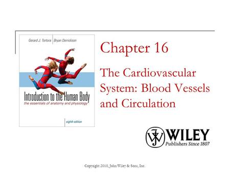 Chapter 16 The Cardiovascular System: Blood Vessels and Circulation