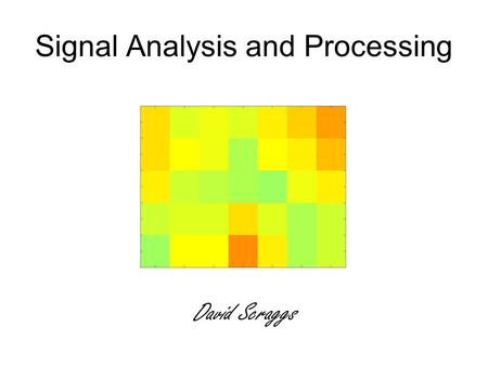 Signal Analysis and Processing David Scraggs. Overview Introduction to Position Resolution Induced Charges Wavelet Transform Future Work Discussion.