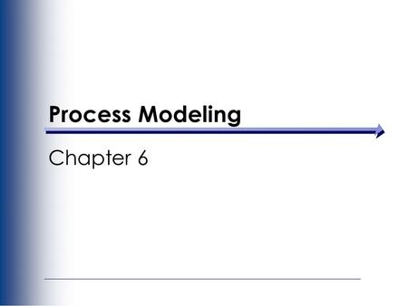 Process Modeling Chapter 6. Key Definitions A process model is a formal way of representing how a business operates Data flow diagramming shows business.