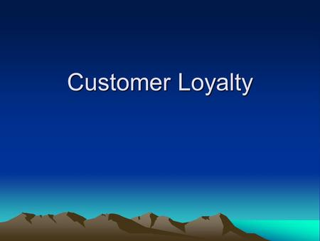 Customer Loyalty. Outline Definition Customer loyalty Customer's commitment or attachment to a brand, store, manufacturer, service provider, or other.