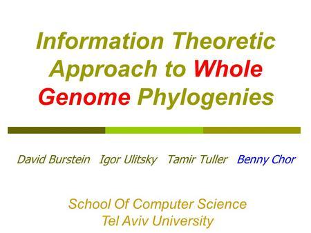 introduction to computational biology an evolutionary approach pdf