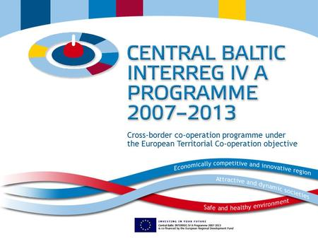 Cross-border co-operation programme under the European Territorial Co-operation objective.