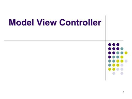 1 Model View Controller. 2 Outline Review Definitions of MVC Why do we need it? Administiriva Changing the display Event flow Dragging at interactive.