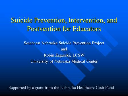 prevention and crisis intervention u9 assignment Question description throughout this course, you have explored the abc model of crisis intervention each aspect of the model has been discussed in length so that you have a good understanding of how to use this model you have learned to ask appropriate questions, create rapport, convey empathy, consider ethical concerns, identify and break down all aspects of the problem, and problem-solve.