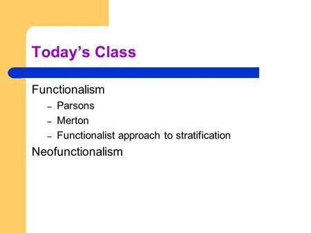 the functionalist view of stratification essay