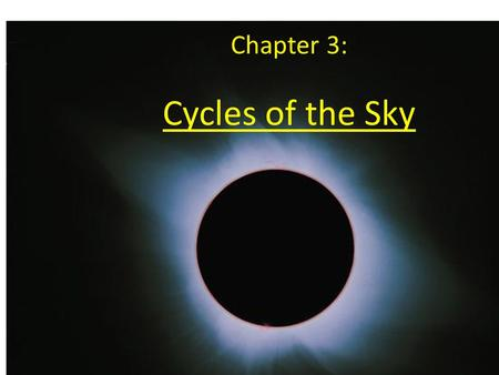Cycles of the Sky Chapter 3:. The Tidally Locked Orbit of the Moon The moon is rotating with the same period around its axis as it is orbiting Earth (tidally.