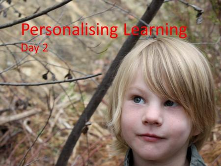 Dr Jeni Wilson Personalising Learning Day 2 Virtual tour of schools Role of the teachers I dream a school….